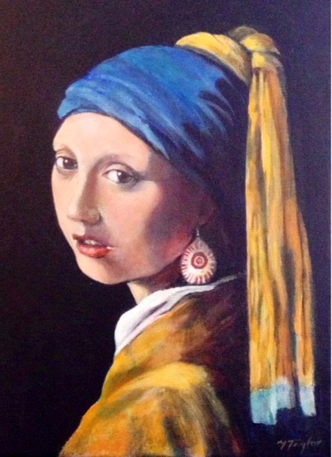 Girl with a  Tunnock's earring SOLD