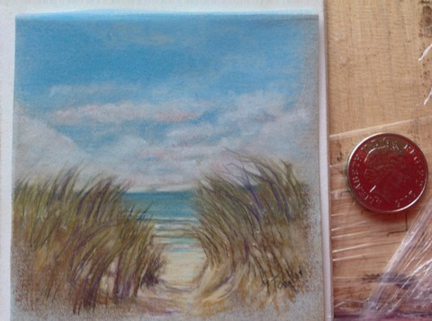 Machair 12x12 cm carbothello pastel pencil on ingres paper